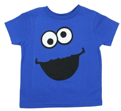 Cookie Monster Face - Sesame Street Juvenile T-shirt