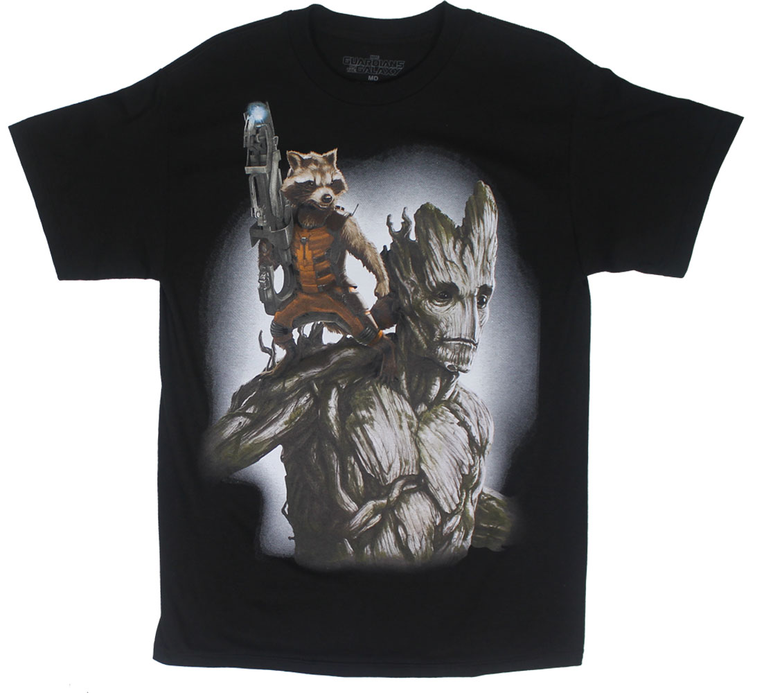 Groot Rider - Guardians Of The Galaxy T-shirt