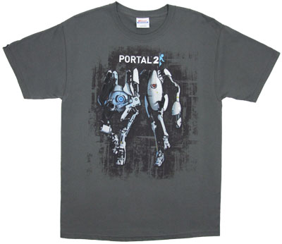 Atlas And Peabody - Portal 2 T-shirt