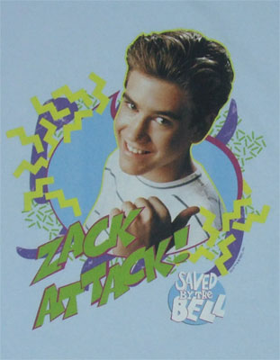 Zack Attack - Saved By The Bell T-shirt