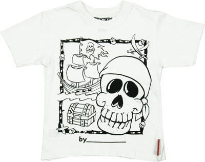 Pirate Color My Tee T-shirt