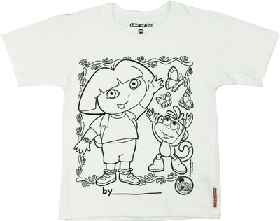 Dora The Explorer Color My Tee T-shirt