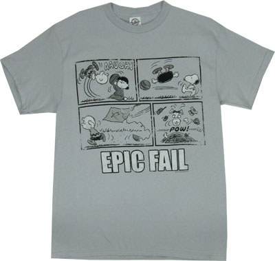 Epic Fail - Peanuts T-shirt