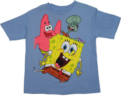 Spongebob Patrick And Squidward - Spongebob Squarepants Juvenile T-shirt