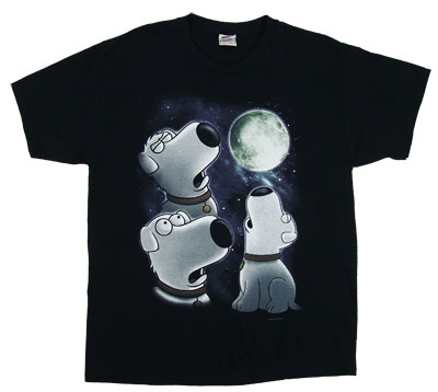 Three Brian Moon - Family Guy t-shirt