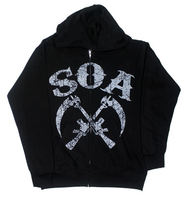 Crossed Sickles - Sons Of Anarchy Hooded Sweatshirt