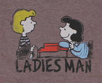 Ladies Man - Peanuts Sheer T-shirt