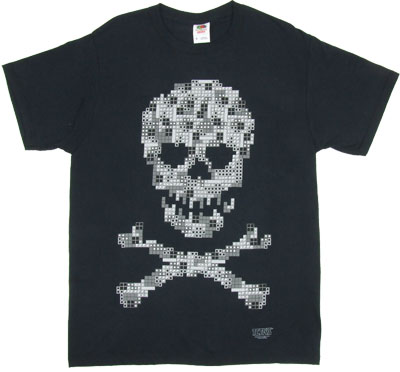 Skull And Crossbones - Tetris T-shirt