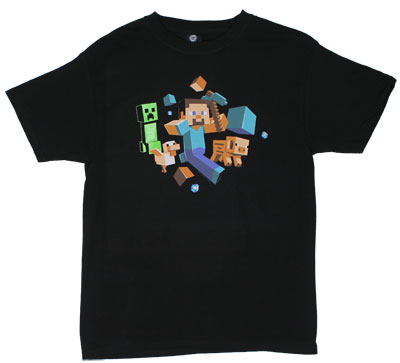 Run Away - Minecraft T-shirt