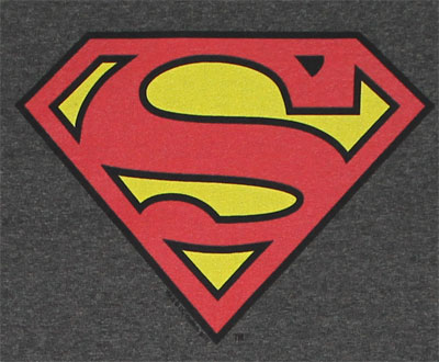 Superman Logo On Charcoal - DC Comics T-shirt