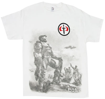 Spartan With Sword Icon - Halo Wars - Halo T-shirt