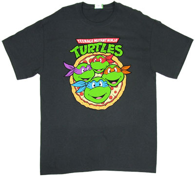 Turtles On Pizza - Teenage Mutant Ninja Turtles T-shirt