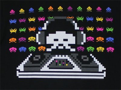 Cosmic DJ - Space Invaders Sheer T-shirt