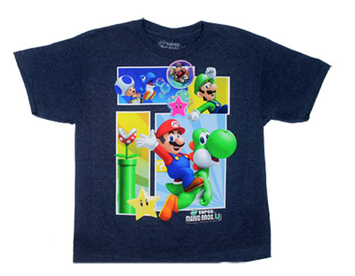 Super Mario Brothers U Panels - Nintendo T-shirt