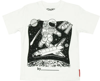 Astronaut Color My Tee T-shirt