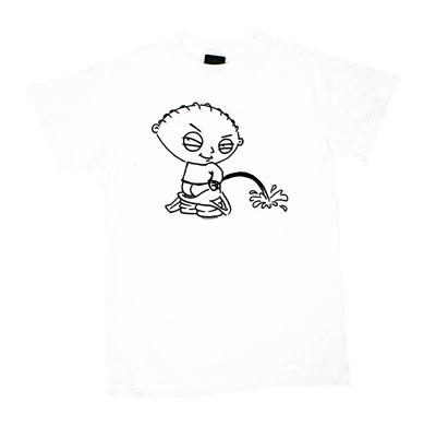 Stewie Peeing - Family Guy Sheer T-shirt