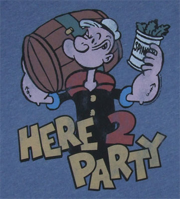 Here 2 Party - Popeye - Junk Food Men's T-shirt