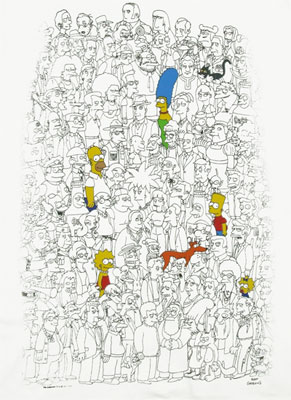 Color Simpsons - Simpsons T-shirt