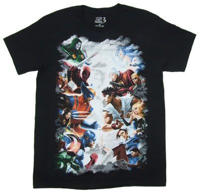Gods Of The Fight - Marvel Vs. Capcom Sheer T-shirt