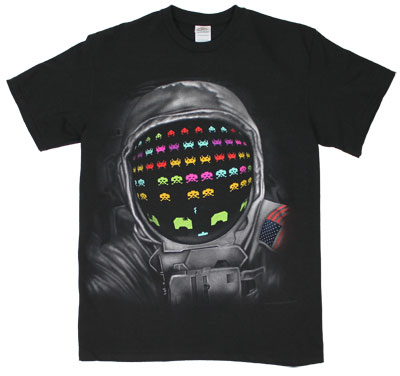 Astronaut Invader - Space Invaders T-shirt