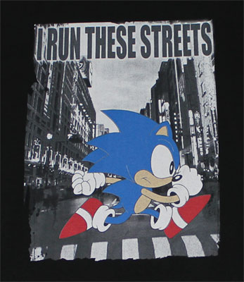I Run These Streets - Sonic The Hedgehog T-shirt