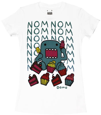 Nom Nom Nom Cupcakes - Domo-Kun Sheer Women&#039;s T-shirt