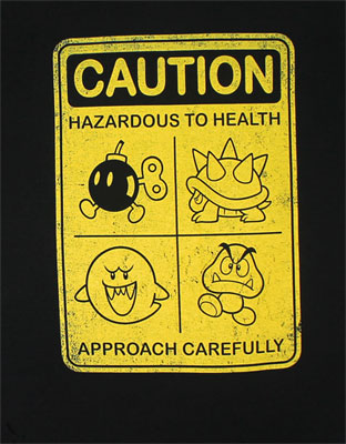 Caution - Nintendo T-shirt