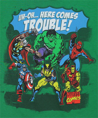 Here Comes Trouble! - Marvel Comics Juvenile T-shirt