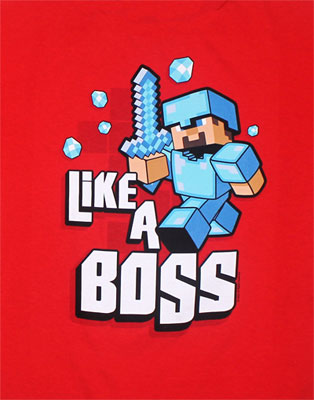 Like A Boss - Minecraft Youth T-shirt
