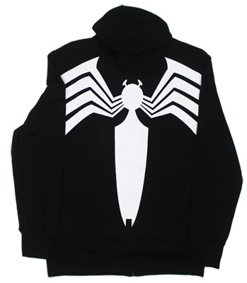 Venom Costume - Marvel Comics Hooded Sweatshirt