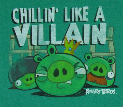 Chillin' Like A Villain - Angry Birds T-shirt