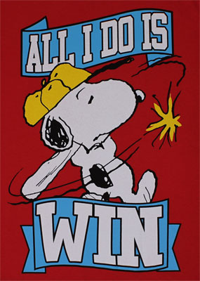 All I Do Is Win - Peanuts T-shirt