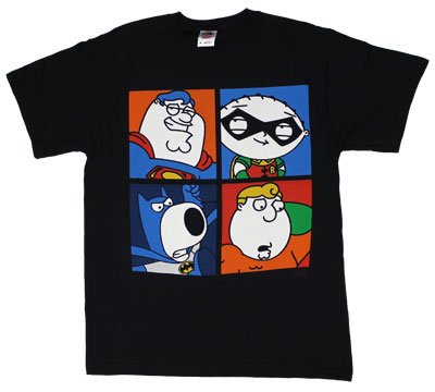 Four Superheroes - Family Guy T-shirt