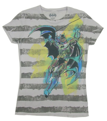 Batman Stripes - DC Comics Sheer Women&#039;s T-shirt
