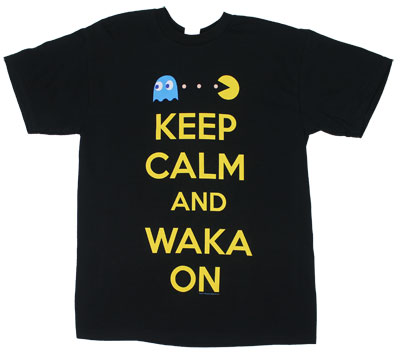 Keep Calm And Waka On - Pac-Man T-shirt