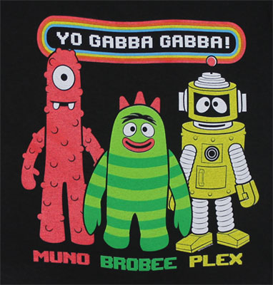Muno Brobee And Plex - Yo Gabba Gabba! Toddler T-shirt