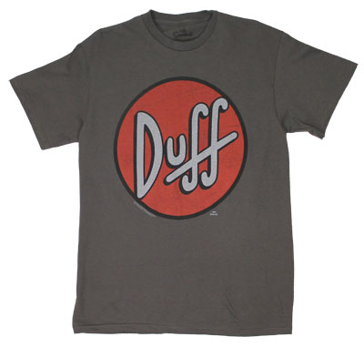 Duff Circle Logo - Simpsons T-shirt