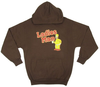 Ladies Man - Simpsons Hooded Sweatshirt