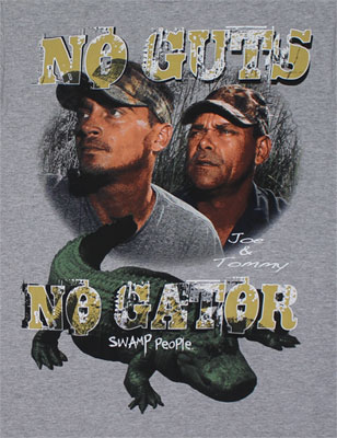 Guts Vs. Gator - Swamp People T-shirt