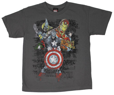 Captain In The Middle - Marvel Comics Youth T-shirt