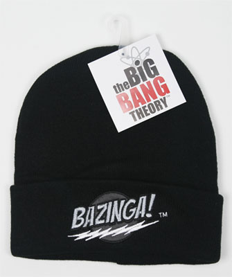 Bazinga On Black - Big Bang Theory Knit Hat