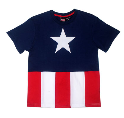 Captain America Costume - Marvel Comics Youth T-shirt