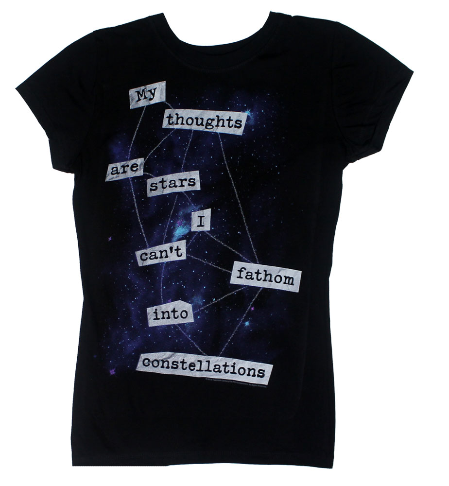My Thoughts Are Stars - The Fault In Our Stars Juniors T-shirt