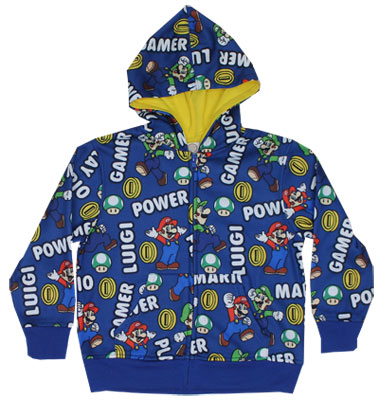 Mario And Luigi - Nintendo Juvenile Hooded Sweatshirt