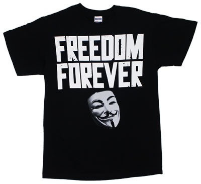 Freedom Forever - V For Vendetta T-shirt