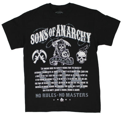 No Rules No Masters - Sons Of Anarchy T-shirt