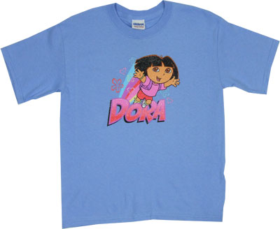 Dora With Rainbow - Dora The Explorer Youth T-shirt