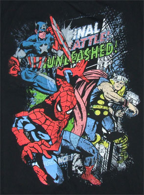 Final Battle Unleashed - Marvel Comics Sheer T-shirt