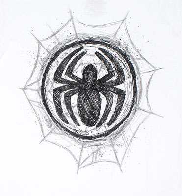 Graphite Web - Marvel Comics Sheer T-shirt