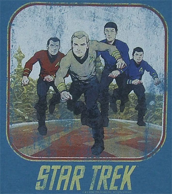 Running Cartoon Crew - Star Trek T-shirt